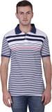 Yishion Striped Men's Polo Neck Blue, Re...