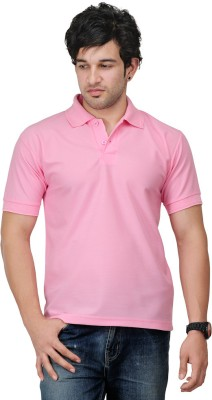 TSX Sportsman Solid Men's Polo Pink T-Shirt