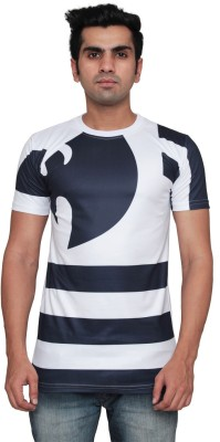 DDI Printed Men's Round Neck White T-Shirt