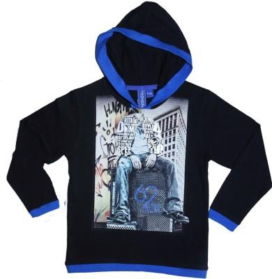 Just Chill Printed Boy's V-neck Black T-Shirt