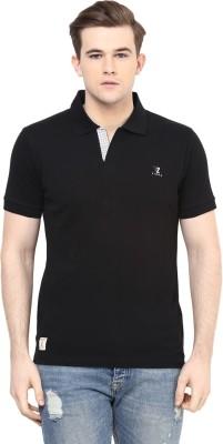 Ziera Solid Men's Polo Neck Black T-Shirt