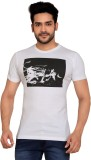 Goplay Printed Men's Round Neck White T-...