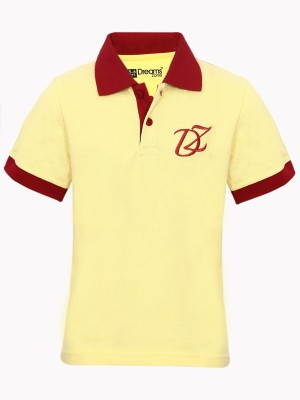 Dreamszone Embroidered Boy's Polo Neck T-Shirt