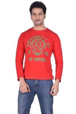 TSG Breeze Printed Men's Fashion Neck Red T-Shirt