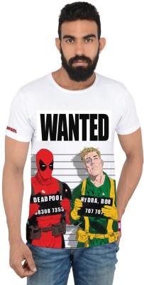 Deadpool Printed Men's Round Neck Multicolor T-Shirt