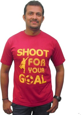 Zorba Mart Printed Men's Round Neck Maroon T-Shirt