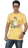 Bandarwalla Printed Men's Round Neck Yel...