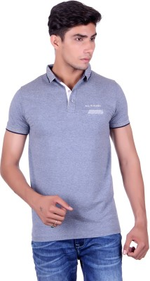 All Ruggby Printed Men's Polo Neck Light Blue T-Shirt
