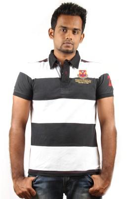 Rock Striped Men's Polo T-Shirt