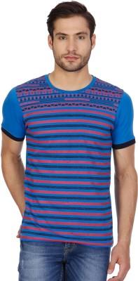 Cloak & Decker Printed Men's Round Neck Blue T-Shirt