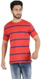 FAME FOREVER Striped Men's Round Neck Re...