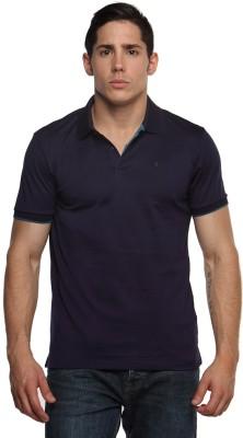 Arrow Newyork Solid Men's Polo Neck Blue T-Shirt