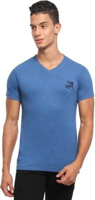 Griffin Sport Solid Men's V-neck Blue T-Shirt