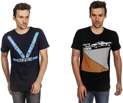 Den Of The Driver Printed Men's Round Neck T-Shirt