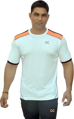COLOR CASTLE Solid Men's Round Neck White T-Shirt