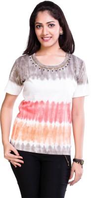 tveno Printed Women's Round Neck Multicolor T-Shirt