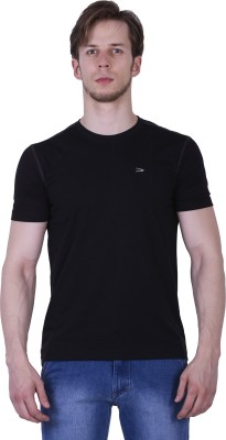 Duke Stardust Solid Men's Round Neck Black T-Shirt