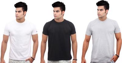 Jazzmyride Graphic Print Men's Round Neck Black, White, Grey T-Shirt