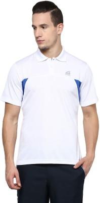 Aurro Solid Men's Polo Neck White T-Shirt