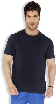 Live In Solid Men's Round Neck Dark Blue T-Shirt