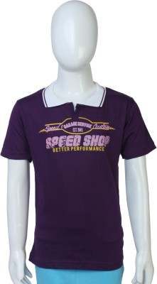 Toons Solid Boy,s Polo Neck T-Shirt
