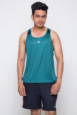 Acetone Solid Men's Scoop Neck Green, Green T-Shirt
