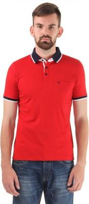Cloak & Decker Solid Men's Polo Neck Red T-Shirt
