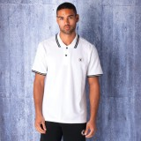 Converse Solid Men's Polo Neck White T-S...
