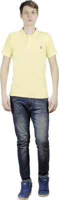Clive Rogers Solid Men's Polo Yellow T-Shirt