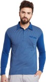 Hypernation Striped Men's Polo Neck Blue...