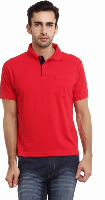 Classic Polo Solid Men's Polo Neck Red T-Shirt