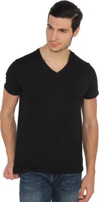 Calvin Klein Solid Men's V-neck Black T-Shirt