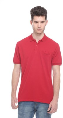OCTAVE Solid Men's Polo Red T-Shirt