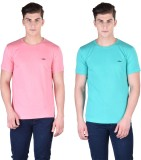 Force Nxt Solid Men's Round Neck Pink, L...