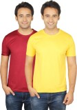 Quetzal Solid Men's Round Neck Yellow, M...
