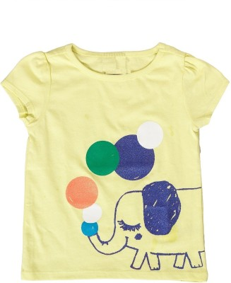 Textures Fashion Embellished Girl's Round Neck Light Green T-Shirt