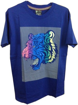 Rools Printed Men's Round Neck Blue T-Shirt