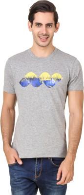Spunk Solid Men's Round Neck Grey T-Shirt