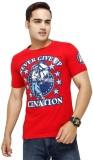 Yuva Printed Men's Round Neck Red T-Shir...