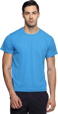Sulpher Solid Men's Round Neck Light Blue T-Shirt