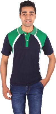 DG Self Design Men's Polo Neck Multicolor T-Shirt