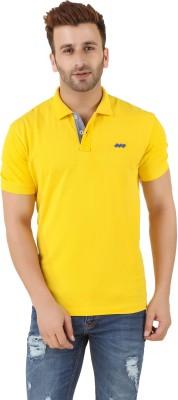 Spunk Solid Men's Polo Yellow T-Shirt