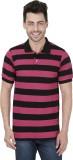 Kaar Striped Men's Polo Neck Multicolor ...
