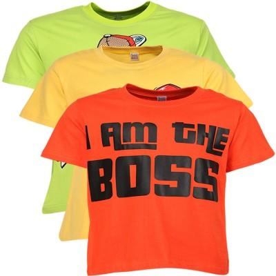 Gkidz Graphic Print Boy's Round Neck Multicolor T-Shirt