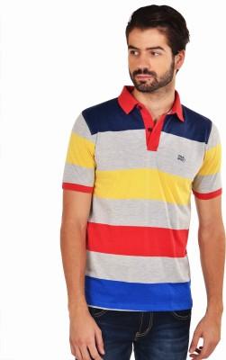 YOO Striped Men's Polo Multicolor T-Shirt