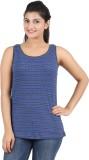 Hoodz Striped Women's Round Neck Blue T-...