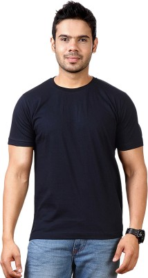 Togswear Solid Men's Round Neck Blue T-Shirt