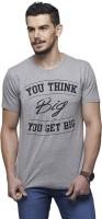 Yepme T Shirts (Men's) - Yepme Graphic Print Men's Round Neck Grey T-Shirt