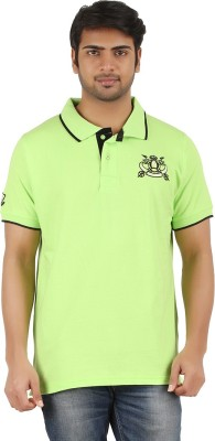 Raw Breeze Solid Men's Polo Neck T-Shirt