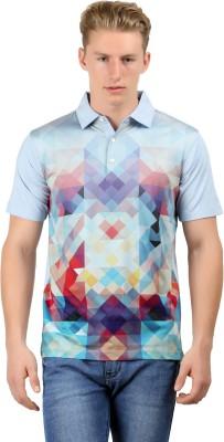 Euro Open Checkered Men's Polo Multicolor T-Shirt